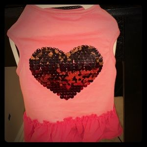 Top Paw Heart Sequin Dress for Dogs